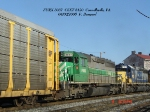 FURX 3037   SD40-2   CSXT 8120   SD40-2    04/09/2006